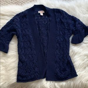 Girls navy cover up sweater